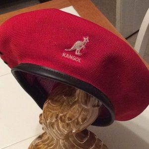 Kangol red Monty beret